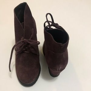 Charles David Suede Wedge Bootie size 6